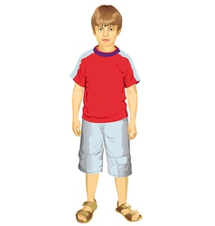 Little Boy Standing vector image
