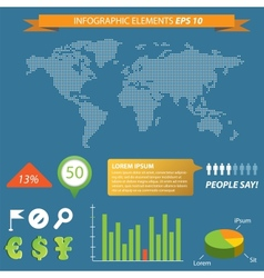 modern infographic with Map vector image vector image