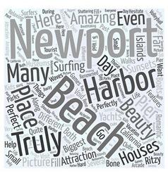 Newport beach beauty word cloud concept vector