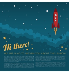 Project launch rocket in space background vector