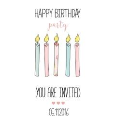Romantic Invitation announcement or congratulation vector image vector image