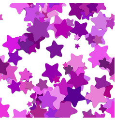 seamless star background pattern - from purple vector image vector image