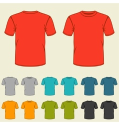 Set of templates colored t-shirts for men vector image vector image