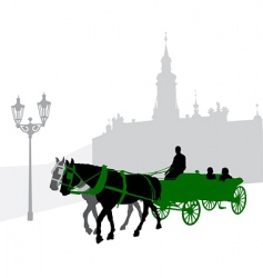 silhouette of a carriage vector image vector image