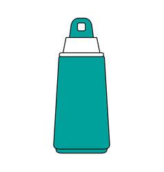 Spray sunscreen protection vector