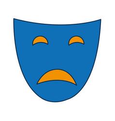 Theater face icon vector