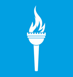 Torch icon white vector