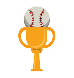 Trophy ball baseball winner vector