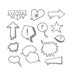 Hand-drawn speech bubbles 2-01 vector