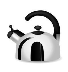 teapot and kettle set in a realistic style vector image
