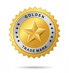 Golden trade mark label vector