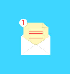 White open envelope with check list and notice vector