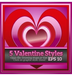 Beautiful graphic styles for valentine day vector