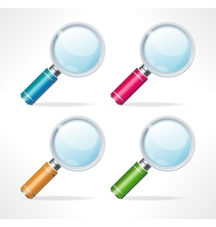 Magnifying glass icons vector