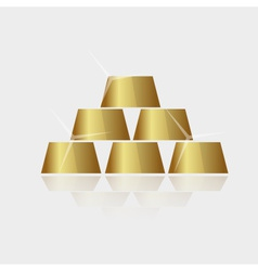 Expensive shiny gold bricks pyramid eps10 vector