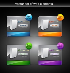 Web prodct display vector
