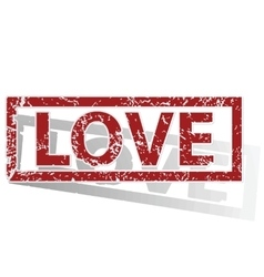 Love outlined stamp vector