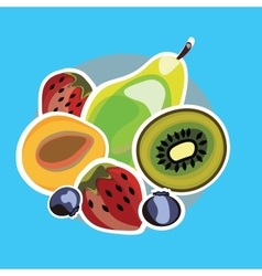 Set of juicy fruit vector