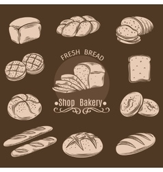 Bakery decorative icons vector
