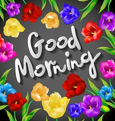 Good morning lettering Hand drawn set with morning vector image