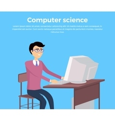 Computer science concept banner vector