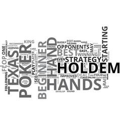 A quick and easy texas holdem poker lesson for vector