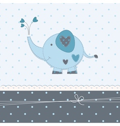 Baby background with cute elephant 3 vector