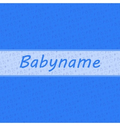 Baby card boy card with baby stuff background vector