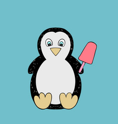 Baby penguin cartoon vector