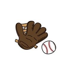 Baseball glove league sport theme vector