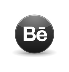 Behance icon in simple style vector
