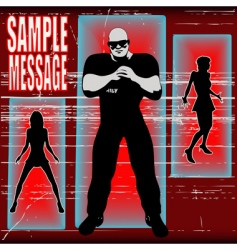 bouncer background vector image