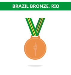 bronze medal brazil rio olympic games 2016 vector image vector image