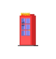 City public phone box vector