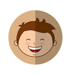 cute little boy character vector image vector image