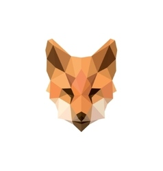 Fox polygon modern logos design vector image