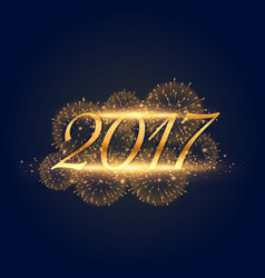 Golden lights background for 2017 new year vector