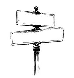 Hand sketch street signs vector