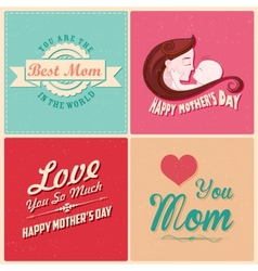 Happy Mothers Day card template vector image vector image