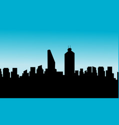 mexico city skyline silhouette flat vector image