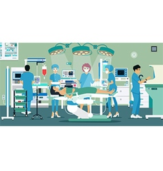 Operating Room vector image vector image