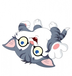 playful kitty vector image