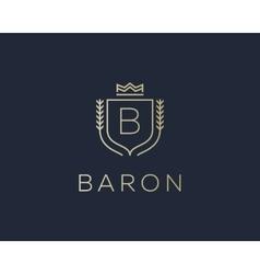 Premium monogram letter b initials ornate vector
