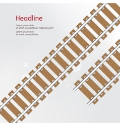 Railroad with wooden sleeper bsckground vector image vector image