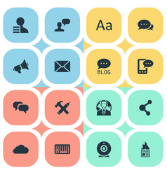 Set of simple user icons vector
