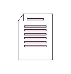 sheet with bent corner vector image