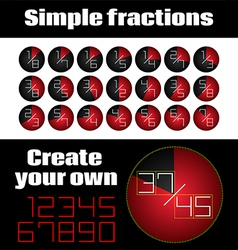 Simple fractions vector
