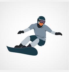 Snowboarder jumping sport vector