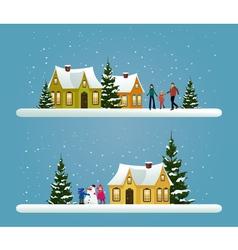 Two Christmas banners vector image vector image