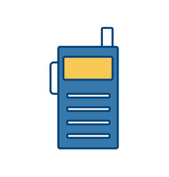 Walkie talkie communication radio isolated on vector